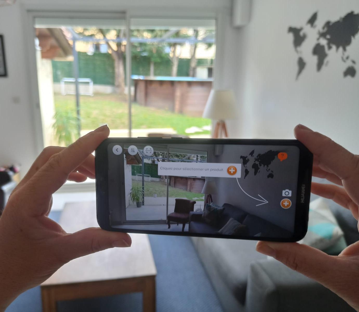 Application réalité augmentée Mariton designer