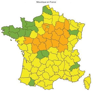 """19 départements placés en vigilance orange """"moustiques"""" !"""
