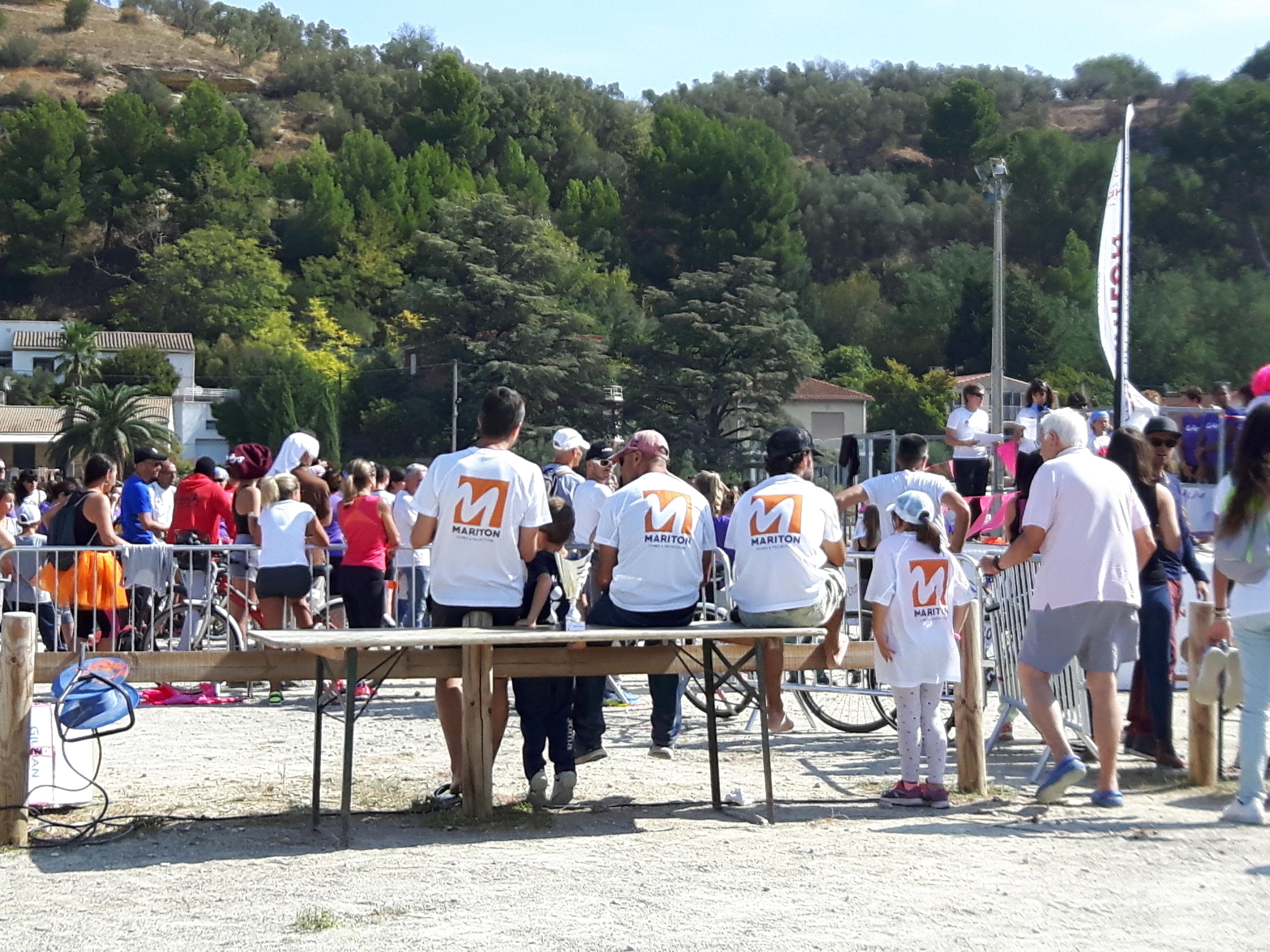 Mariton, sponsor du triathlon Les 3 Elles Roses