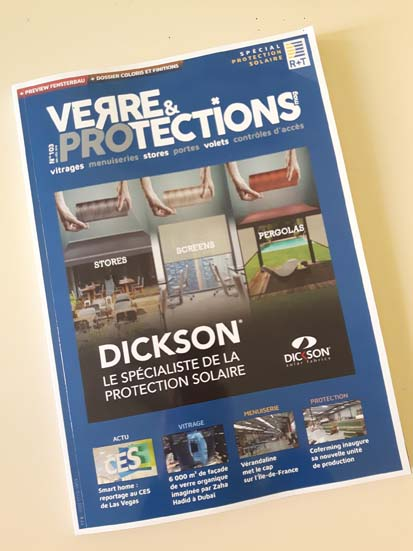 Mariton est présent dans le Magazine Verre et Protections