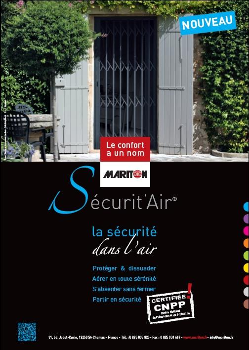 Annonce presse 2012 de grille de sécurité pour porte par Mariton