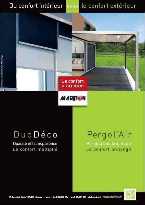 Annonce presse Nouveauté 2012 : DuoDéco et Pergol'Air par Mariton