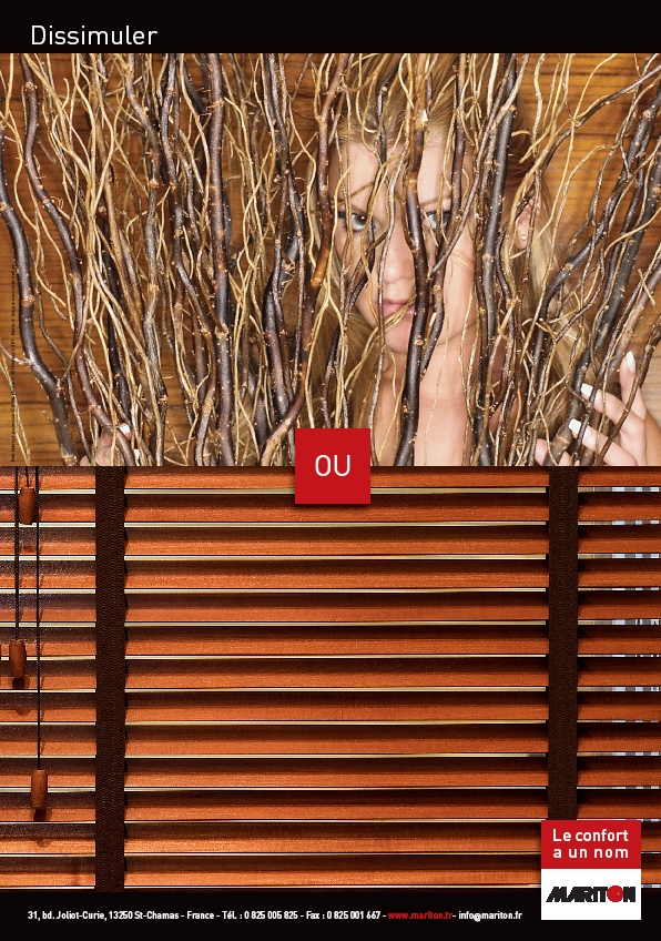 Annonce presse 2011 store en bois par Mariton