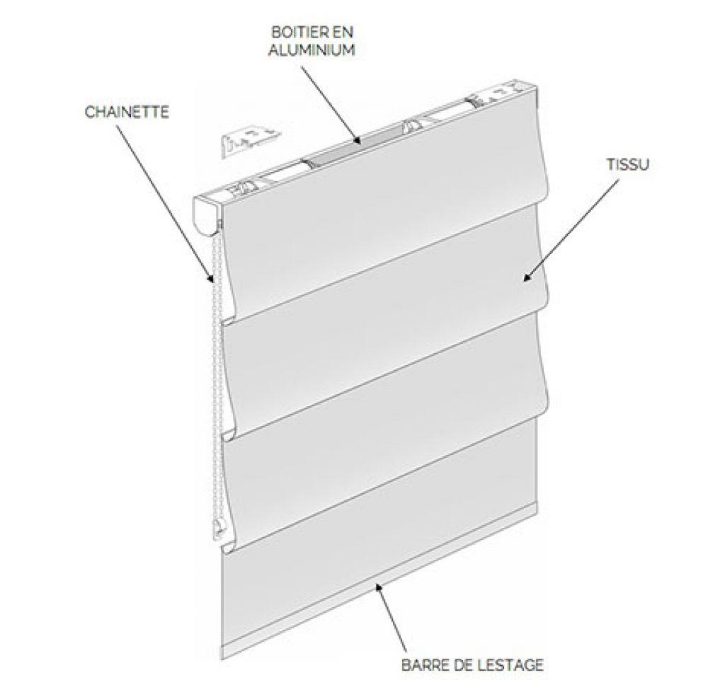 store tissu occultant latest x cm store bateau occultant. Black Bedroom Furniture Sets. Home Design Ideas